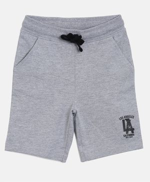 3PIN Front Pocket Shorts -  Grey