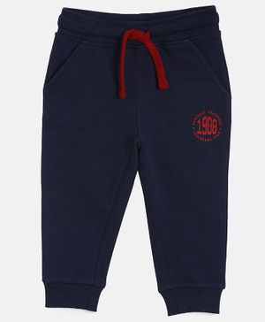 3PIN Full Length 1908 Printed Joggers - Blue
