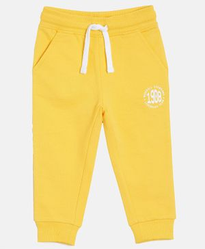 3PIN Full Length 1908 Printed Joggers - Yellow