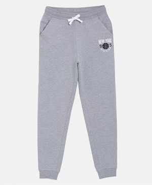 3PIN New York Printed Full Length Joggers - Grey