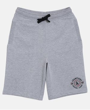 3PIN Knee Length Front Pocket  Shorts - Grey