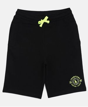 3PIN Knee Length Front Pocket  Shorts - Black