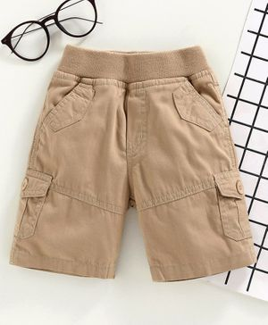 Jash Kids Pull Up Knee Length Shorts - Khaki