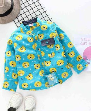 Babyhug Full Sleeves Shirt Tiger Print - Blue