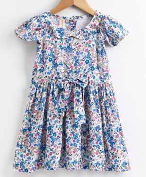 Little LABS Short Sleeves Floral Print - Blue
