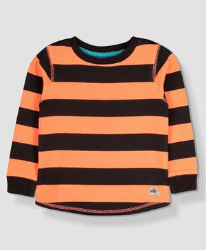 Cherry Crumble By Nitt Hyman Full Sleeves Striped Tee - Orange