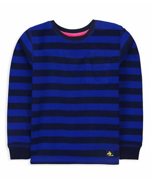 Cherry Crumble By Nitt Hyman Full Sleeves Striped Tee - Blue
