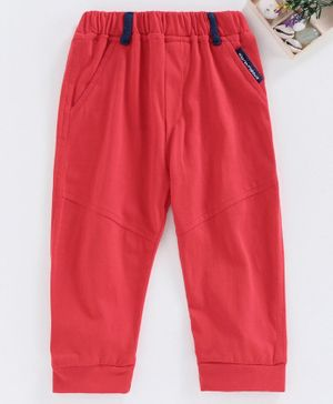 marshmallows Solid Colour Full Length Lounge Pant - Red