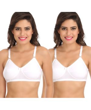 Sona Pack Of Two Women's Post Surgical Mastectomy Maternity Bra - White