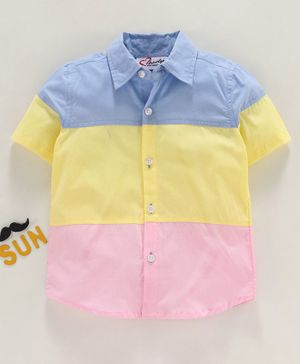 M'andy Half Sleeves Color Blocked Shirt - Multi Color