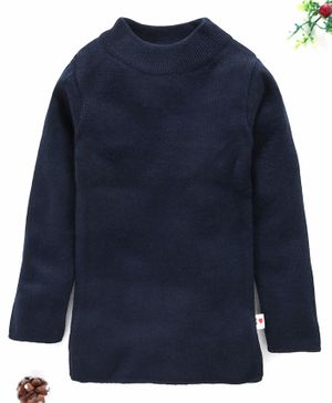 Yellow Apple Full Sleeves Winter Wear Tee - Navy Blue