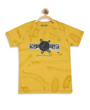 Monte Carlo Half Sleeves Printed Tee - Yellow