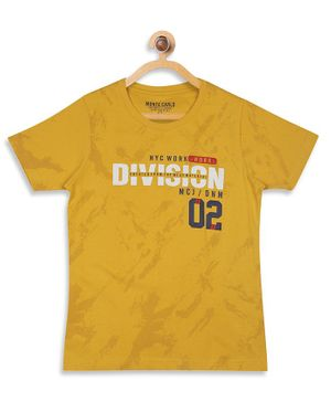 Monte Carlo Half Sleeves Division Printed Tee - Yellow