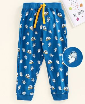 Babyhug Full Length Lounge Pant Animal Print - Blue