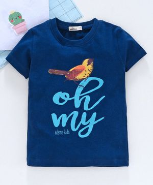 Adams Kids Half Sleeves Oh My Printed Tee - Dark Blue