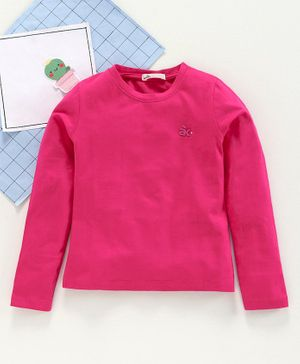 Adams Kids Full Sleeves Solid Color T-Shirt - Pink