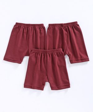 Red Rose Cotton Bloomer Pack of 3 - Maroon