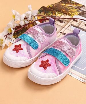 Cute Walk by Babyhug Party Wear Shoes - White Pink