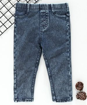 Fox Baby Full Length Denim Jeggings - Blue