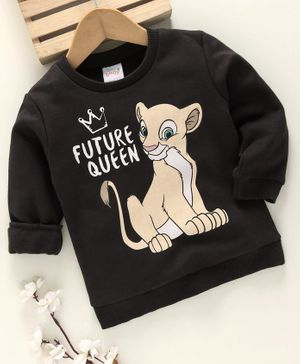 Fox Baby Winter Wear Full Sleeves Tee Nala Print - Dark Grey