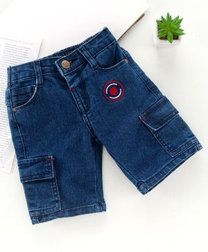 Babyhug Knee Length Jamaican Shorts - Dark Blue