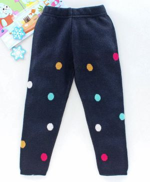 Babyhug Winter Wear Full Length Bottoms - Navy