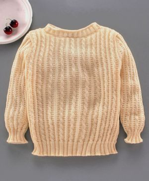 Little Angels Full Sleeves Skivi Sweater - Peach