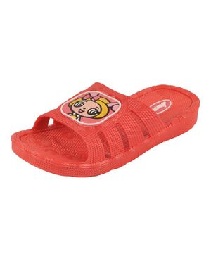 Yellow Bee Doll Patch Sandals - Red