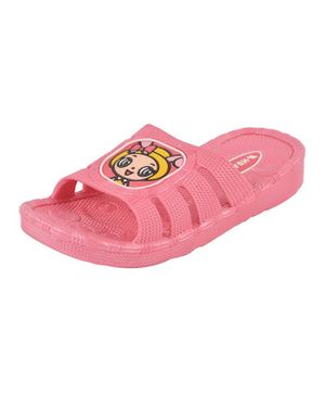 Yellow Bee Doll Patch Sandals - Pink