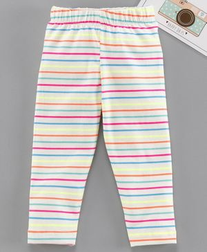 Babyhug Full Length Stripes Leggings - Multicolour