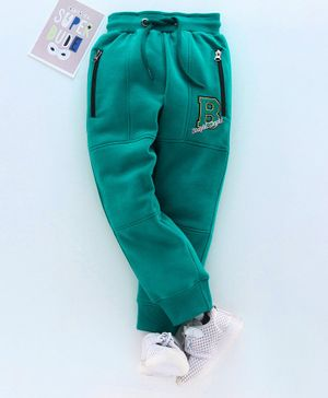 Stupid Cupid Solid Full Length Lounge Pants - Green