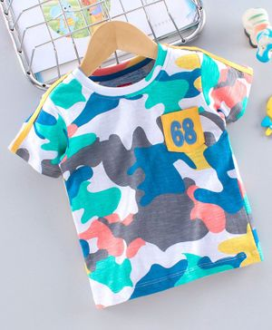 Babyhug Half Sleeves T-Shirt 68 Print - White