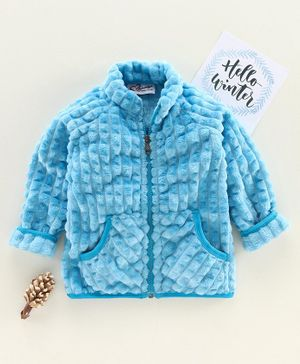 M'andy Full Sleeves Puff Jacket - Blue