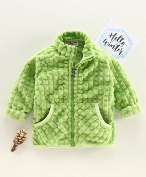 M'andy Full Sleeves Faux Shearling Jacket - Green