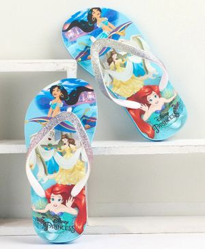 Disney Princess Printed Flip Flops - Blue