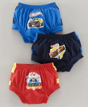 Red Rose Briefs Hot Wheels Print Pack Of 3 - Red Blue
