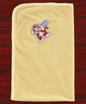 Mee Mee Absorbent Baby Bath Towel Monkey Design - Cream