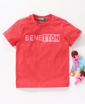 UCB Half Sleeves T-Shirt Benetton Print - Red