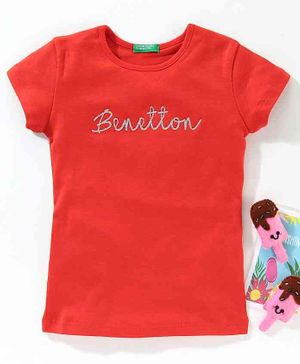 UCB Short Sleeves Tee Benetton Print - Red