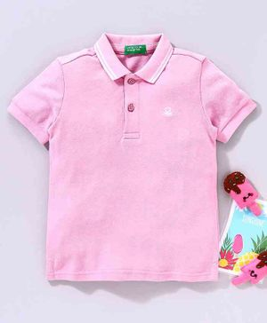 UCB Half Sleeves Polo T-Shirt - Pink