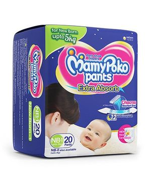 MamyPoko Pant Style Diapers New Born  - 20 Pieces