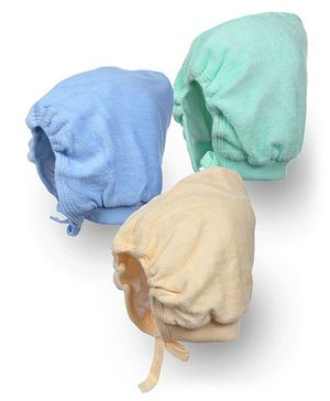 Tinycare Bonnet Style Cap Large - Set Of 3