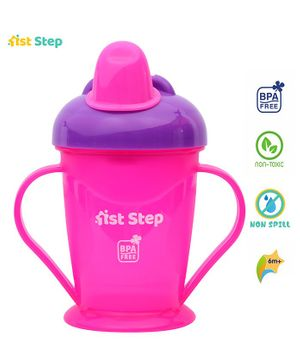 1st Step Spill Proof Cup With Handle Dark Pink - 180 ml
