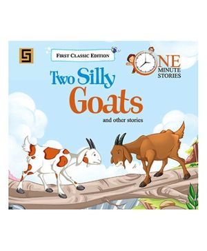 Golden Sapphire Two Silly Goats One Minute Story Book - English