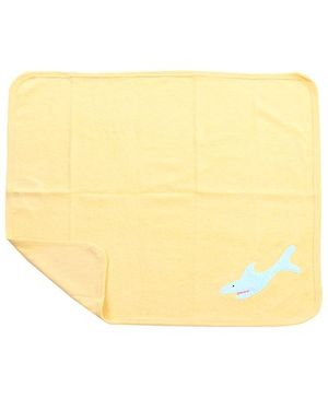 Child World Hand And Face Towel - Blue Fish