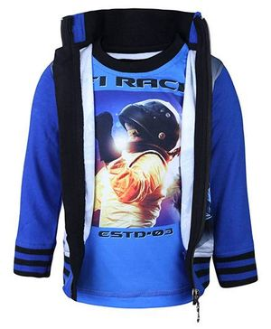 Finger Chips T-Shirt With Jacket - F1 Racing Print