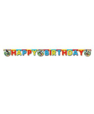 Disney Happy Birthday Die Cut Banner - Multicolour