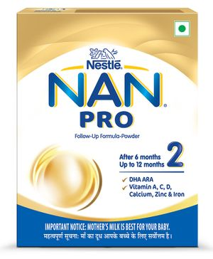 Nestle Nan Pro Stage 2 Follow-up Formula Powder - After 6 months Stage 2 400 gm Bag-In-Box Pack