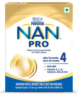 Nestle Nan Pro 4 Follow-up Formula Powder After 18 months Stage 4 400 gm Bag-In-Box Pack
