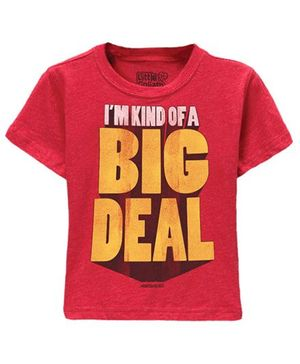 Toddler Tee Caption Print I'm Kind Of A Big Deal - Vintage Red